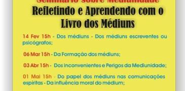 A partir de 14/02: Seminário sobre Mediunidade