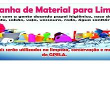 Campanha de material de limpeza, colabore conosco!