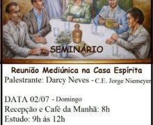 Seminário – Reunião Mediúnica na Casa Espírita.