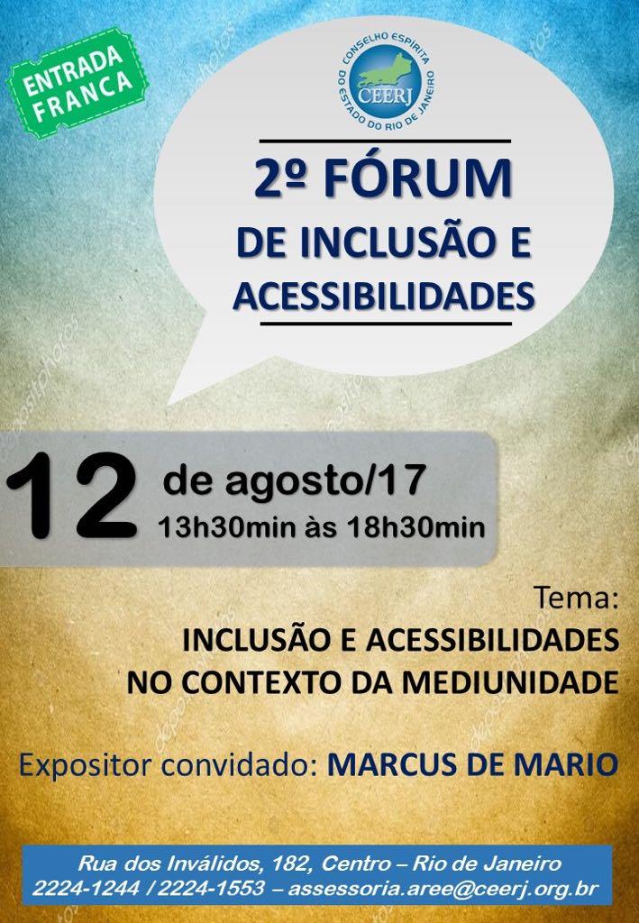 2º Fórum de Inclusão e Acessibilidades