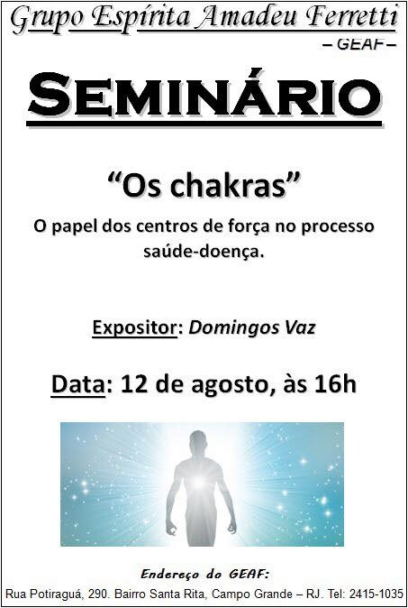 Seminário – Os Chakras