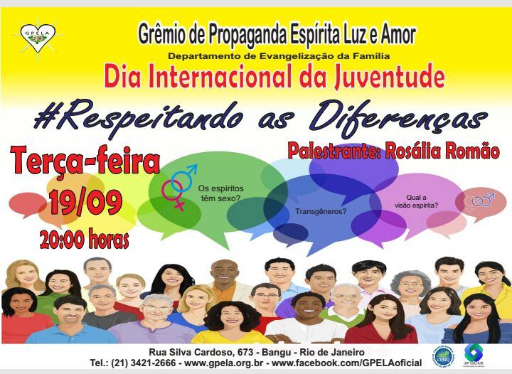 Dia Internacional da Juventude.
