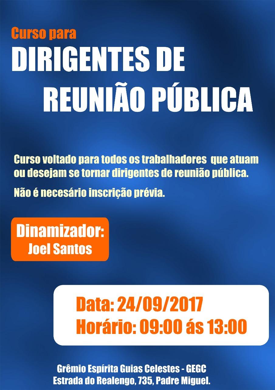 Curso para Dirigentes de Reunião Pública.