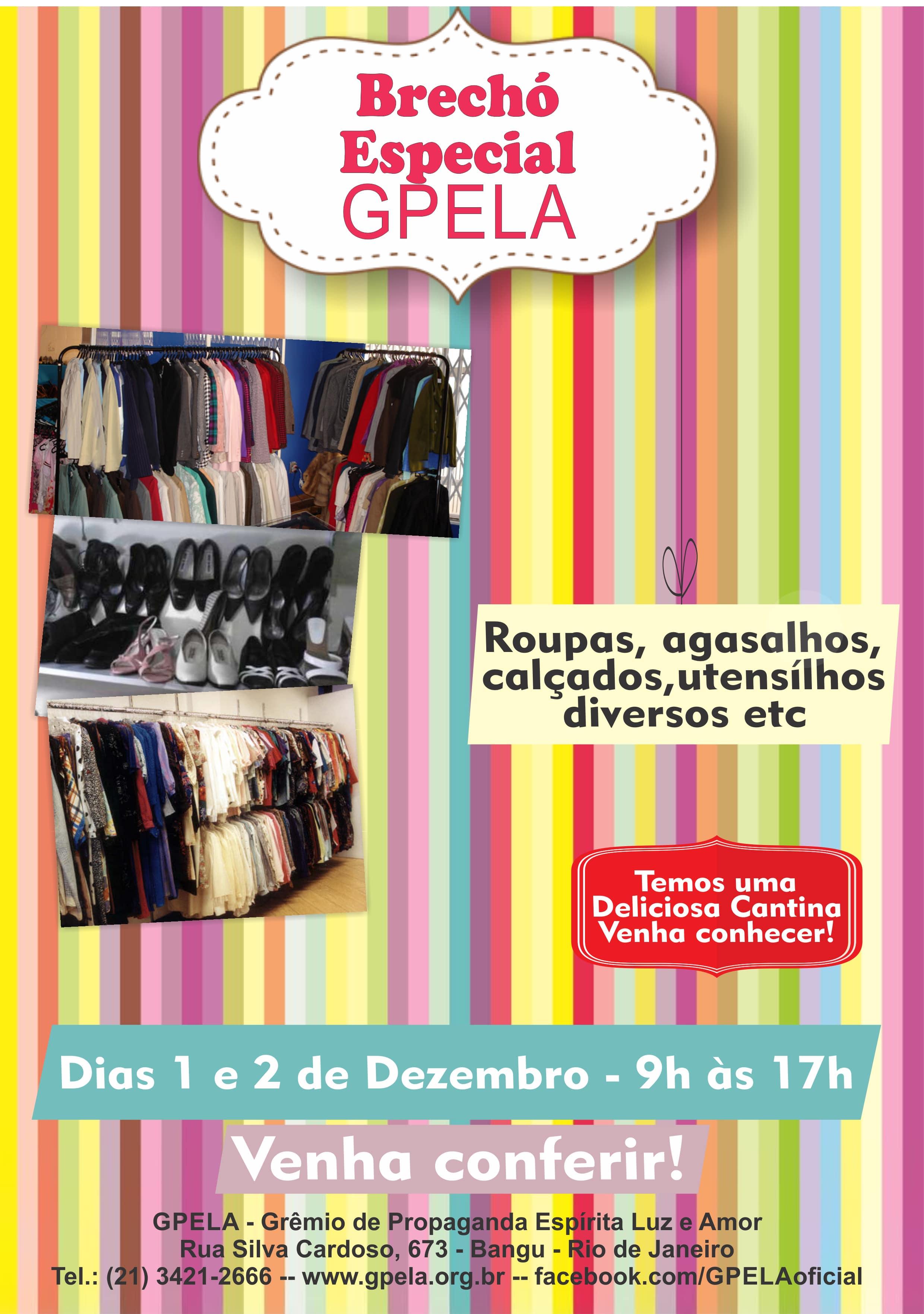 Brechó Especial GPELA – Dias 1 e 2 de Dezembro