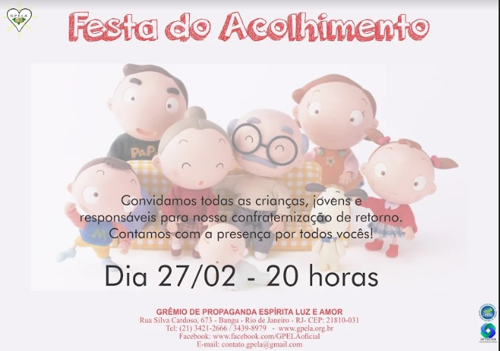 Festa do Acolhimento – 27/02