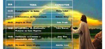Irmandade Espírita José da Luz – Reuniões Públicas do mês de março.