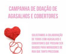Campanha de Doação de Agasalhos e cobertores.