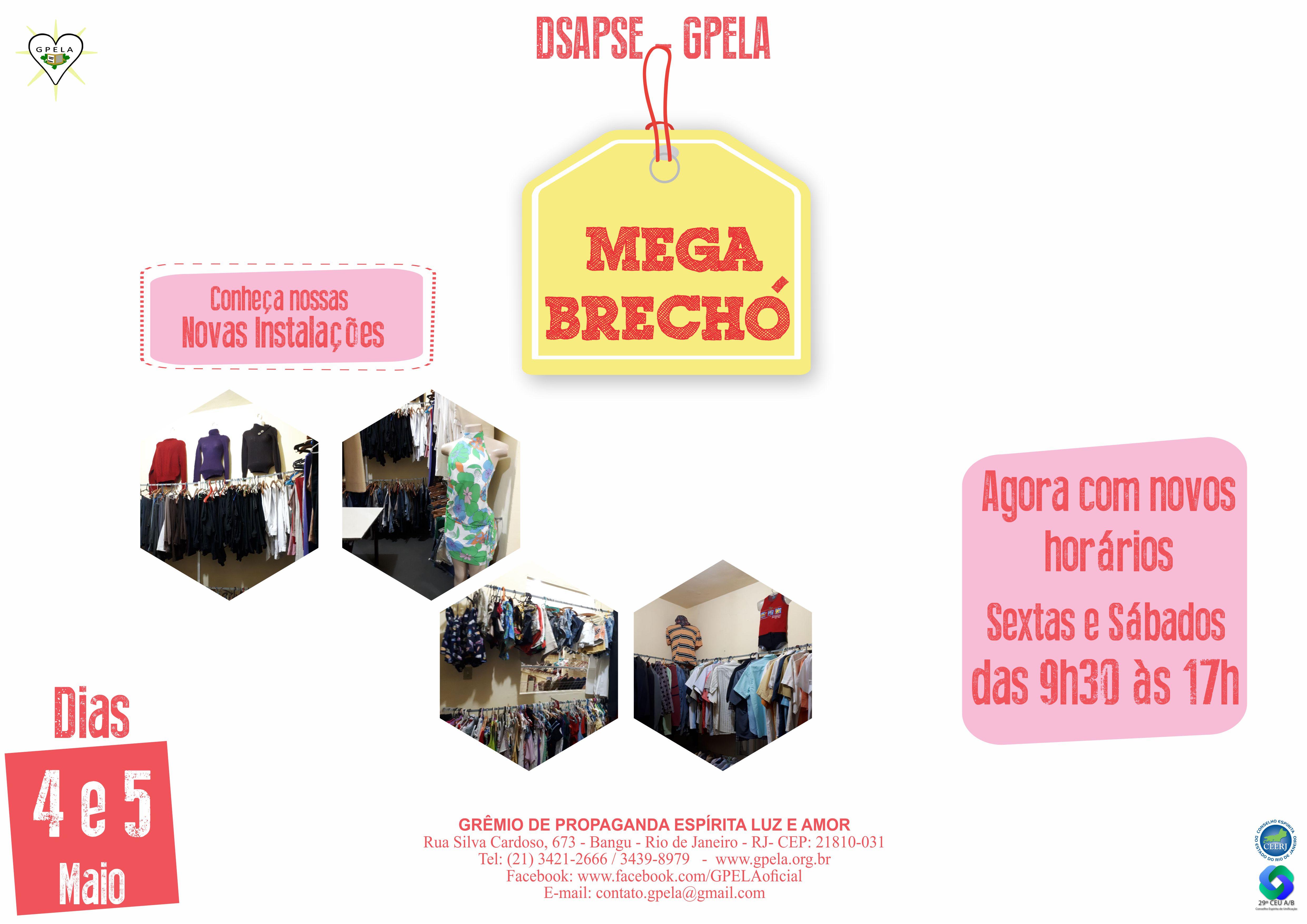 Mega Brechó – dias 04 e 05/05