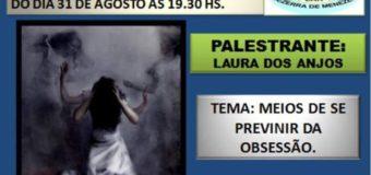 31/08/18 – Meios de se Prevenir da Obsessão.