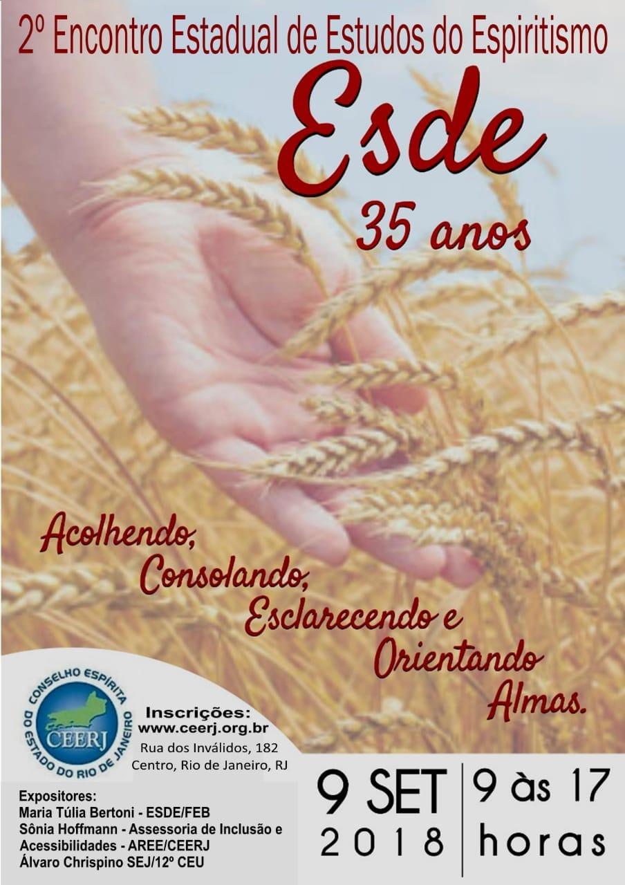 09/09/18 – 2º Encontro Estadual de Estudos do Espiritismo Esde 35 anos