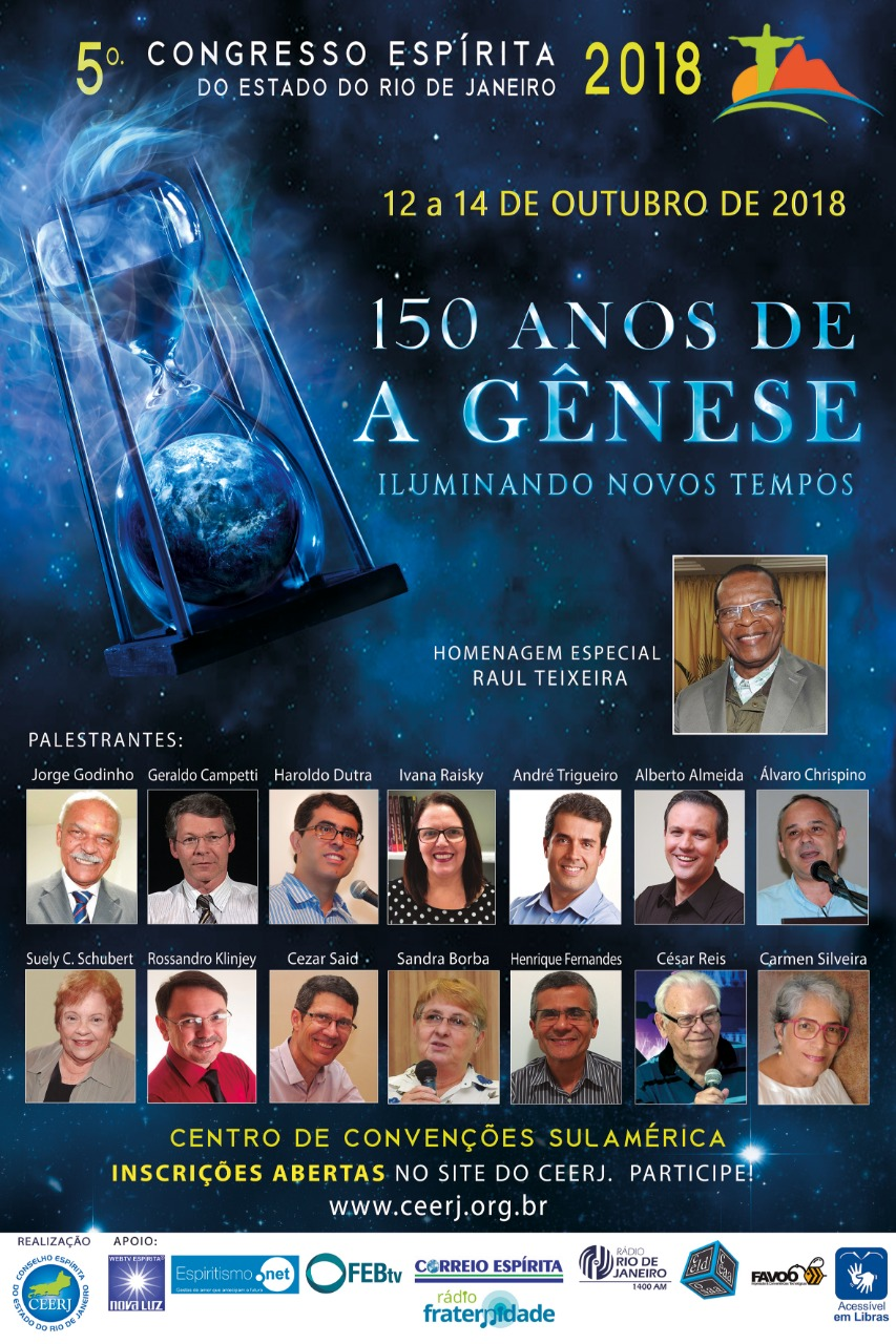 12 a 14/10/18 – 5º Congresso Espírita