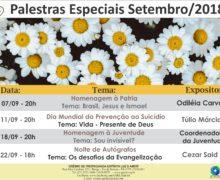Palestras Especiais Setembro/2018