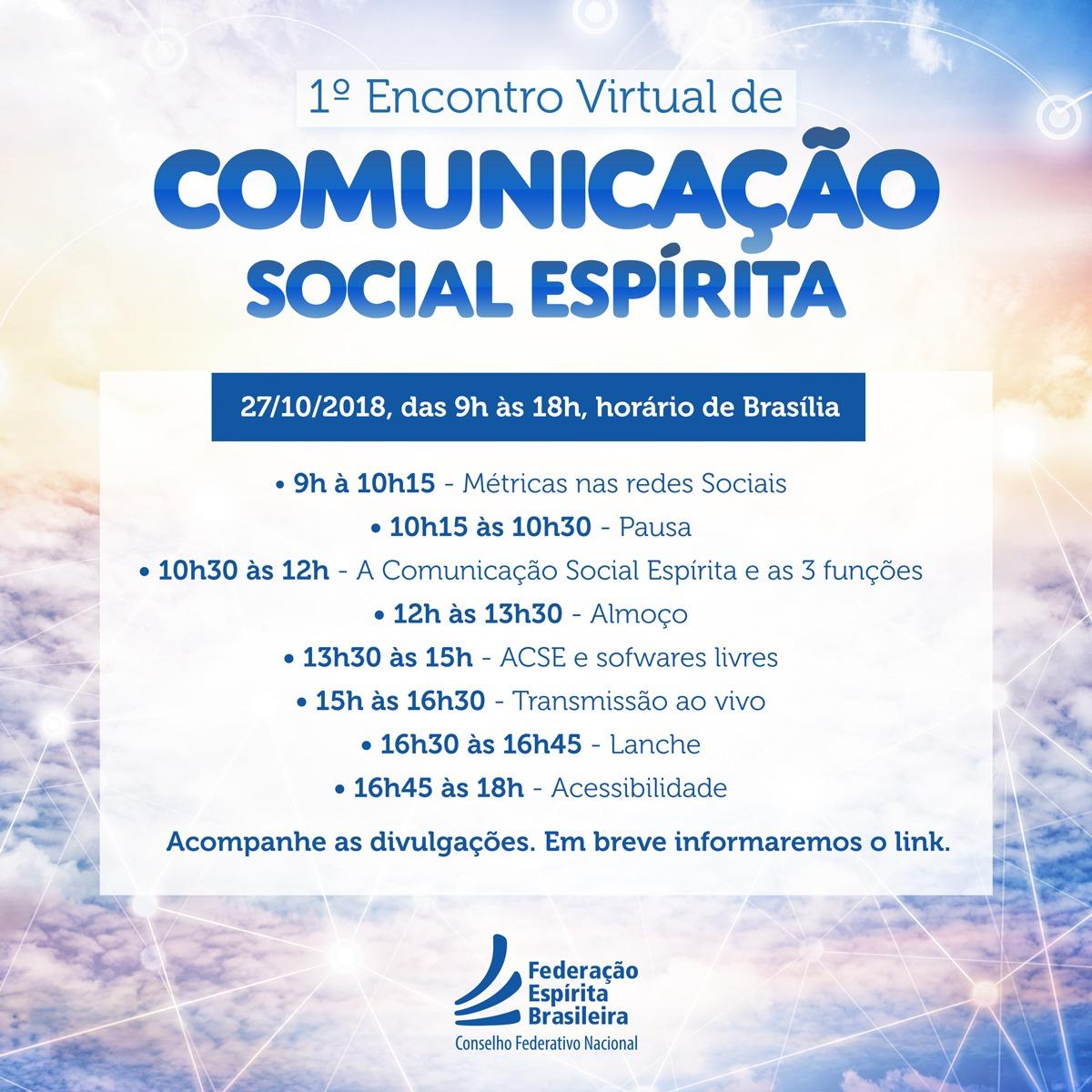 1º Encontro Virtual de Comunicação Social Espírita
