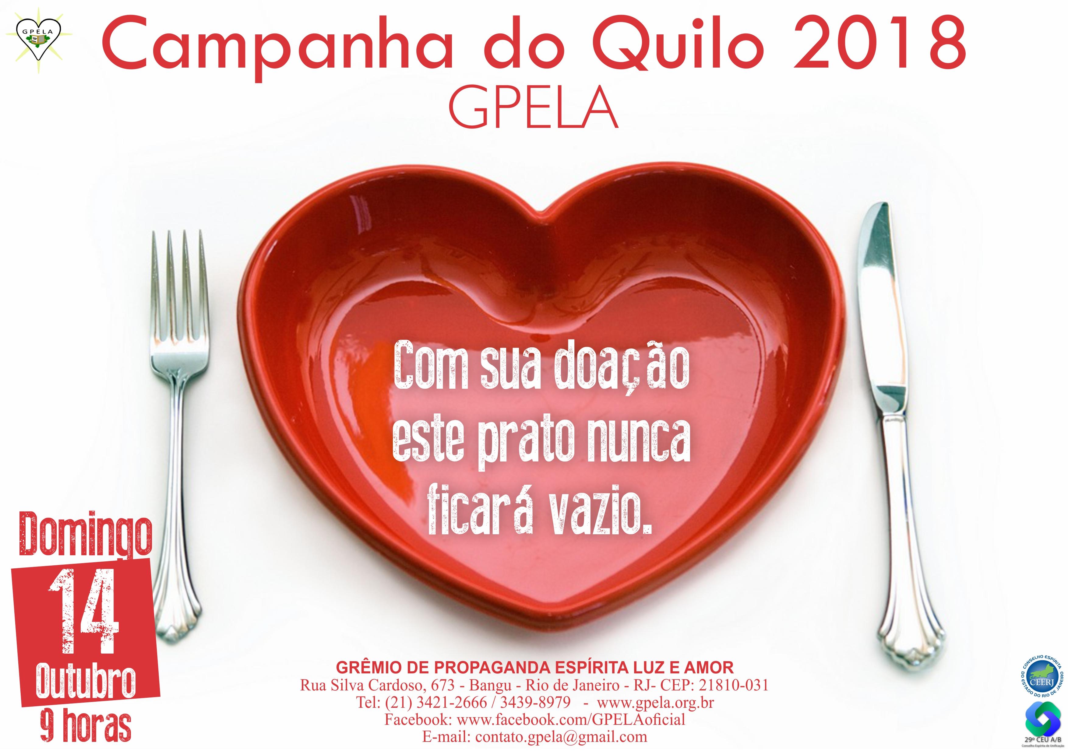 14/10 – Campanha do Quilo!