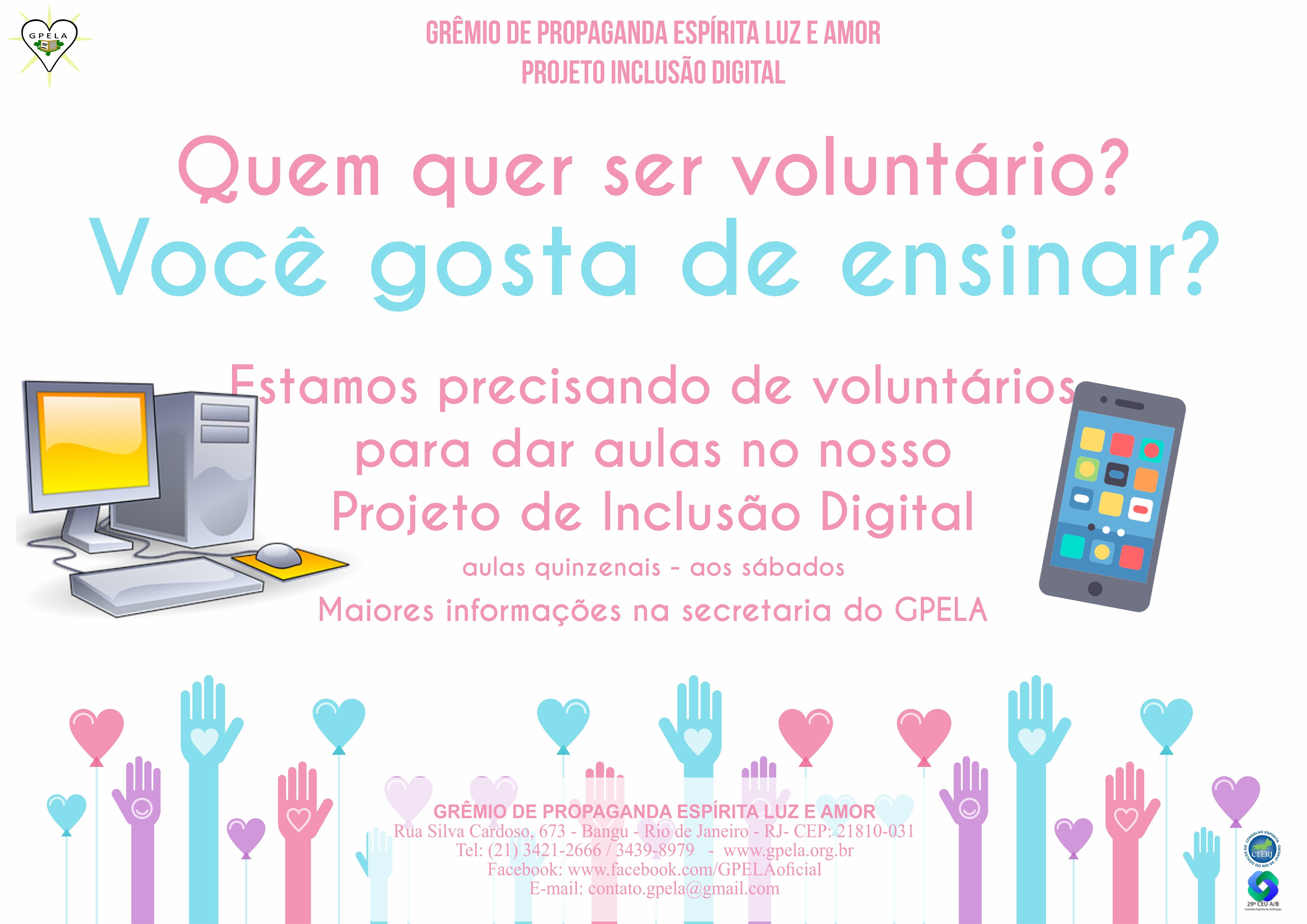 Voluntário para Inclusão Digital