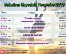 Palestras Especiais de Fevereiro/19.