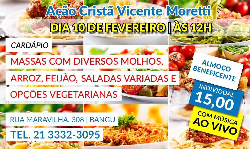 10/02 – Almoço na Ação Cristã Vicente Moretti