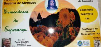24/02 – Aniversário Associação Espírita Bezerra de Menezes