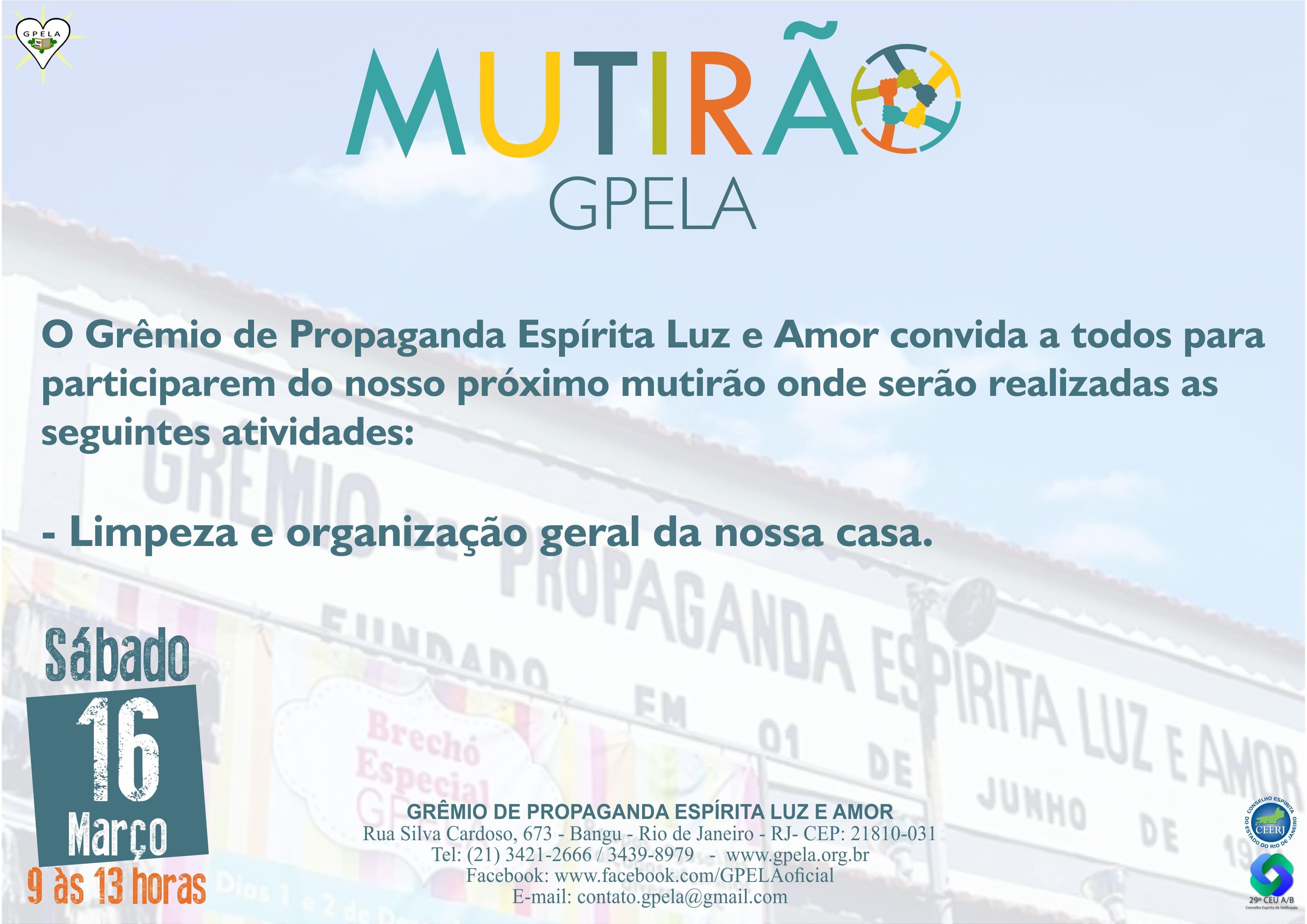 16/03 – Mutirão Gpela.