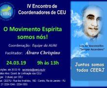 24/03 – IV Encontro de Coordenadores de CEU