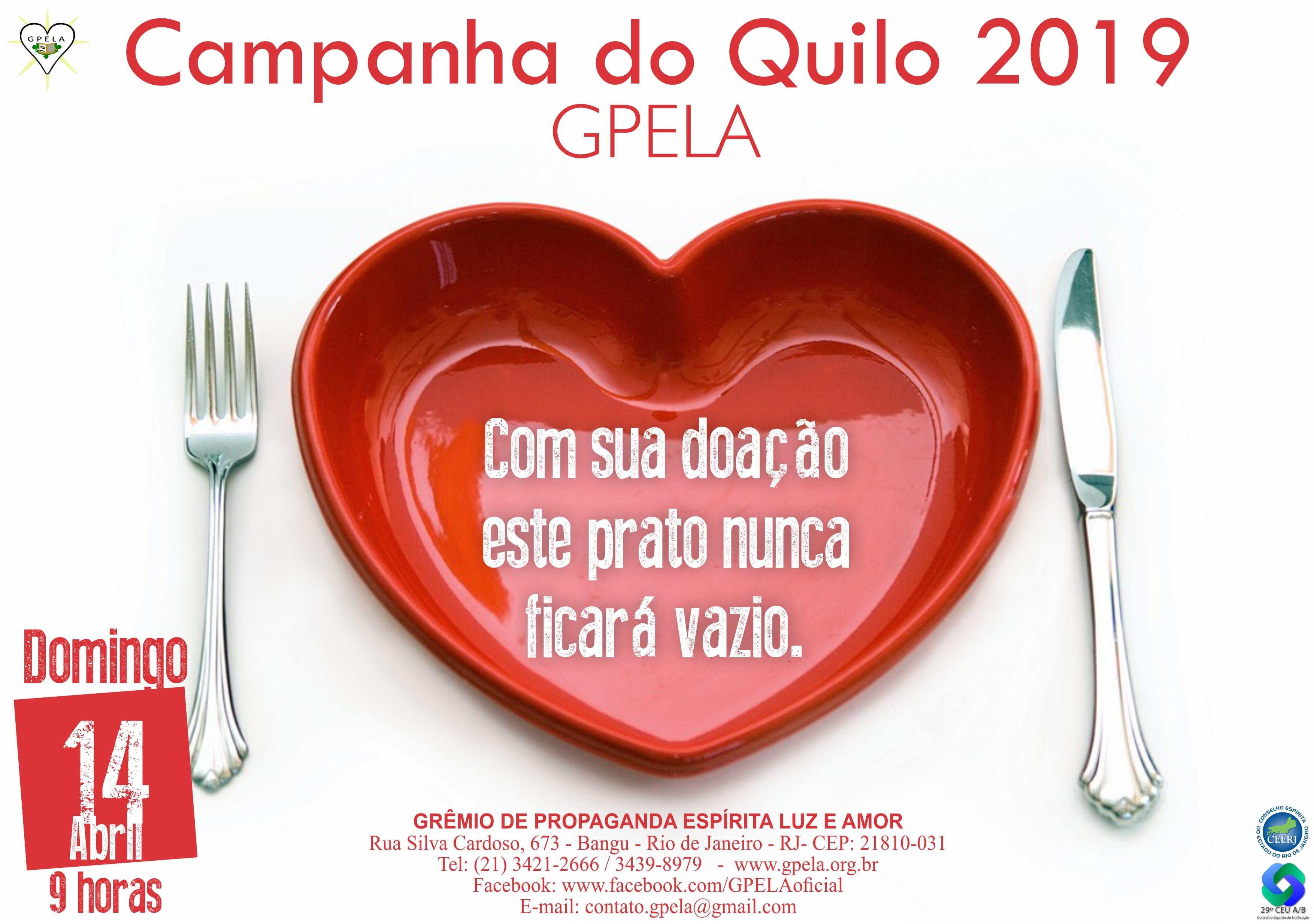 14/04 – Campanha do Quilo