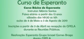 04/05 – Início Curso de Esperanto