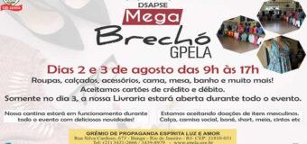 Mega Brechó GPELA – Dias 2 e 3 de Agosto de 9h as 16h