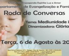 Roda de Conversas Dia 06 de Agosto, Terça Feira as 20h