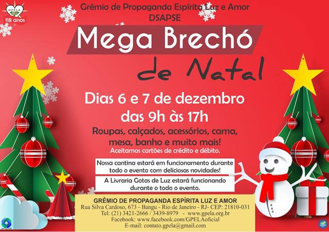 Mega Brechó de Natal – Dias 6 e 7 de Dzembro