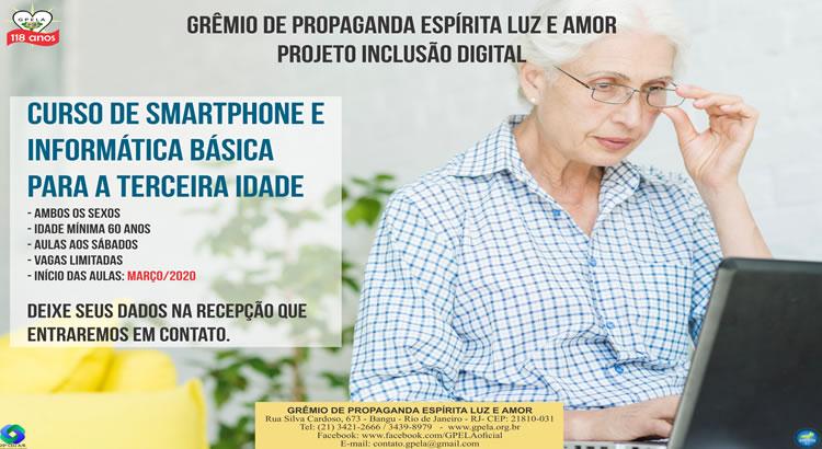 Curso de Smartphone e Informática Básica Para a Terceira idade