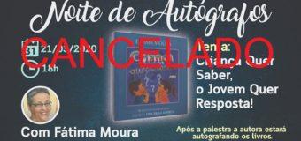 Noite de Autógrafos com o tema: Criança QUer Saber e o Jovem Quer Resposta