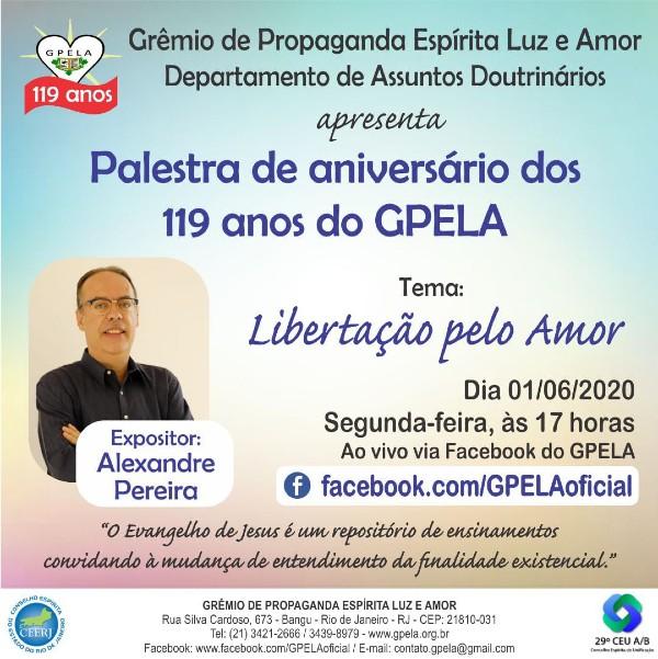 Palestra de Aniversário dos 119 Anos do GPELA