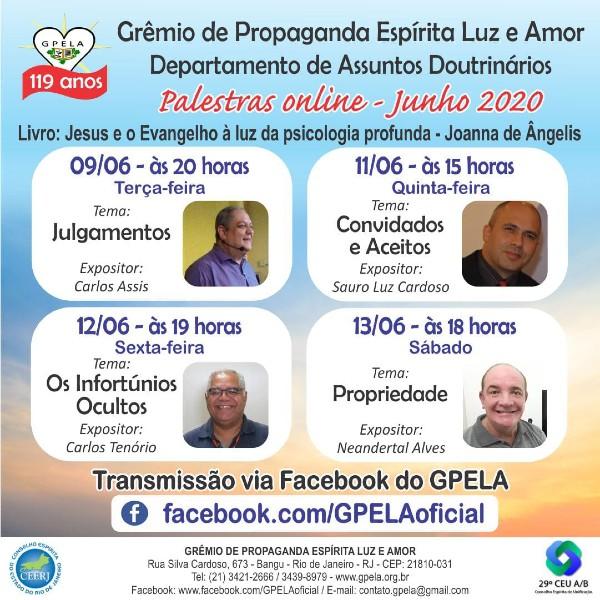 Segunda Semana de Palestras do Mês de Junho em Comemoração aos 119 Anos do GPELA