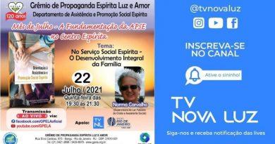 No Serviço Social Espírita – O Desenvolvimento Integral da Família